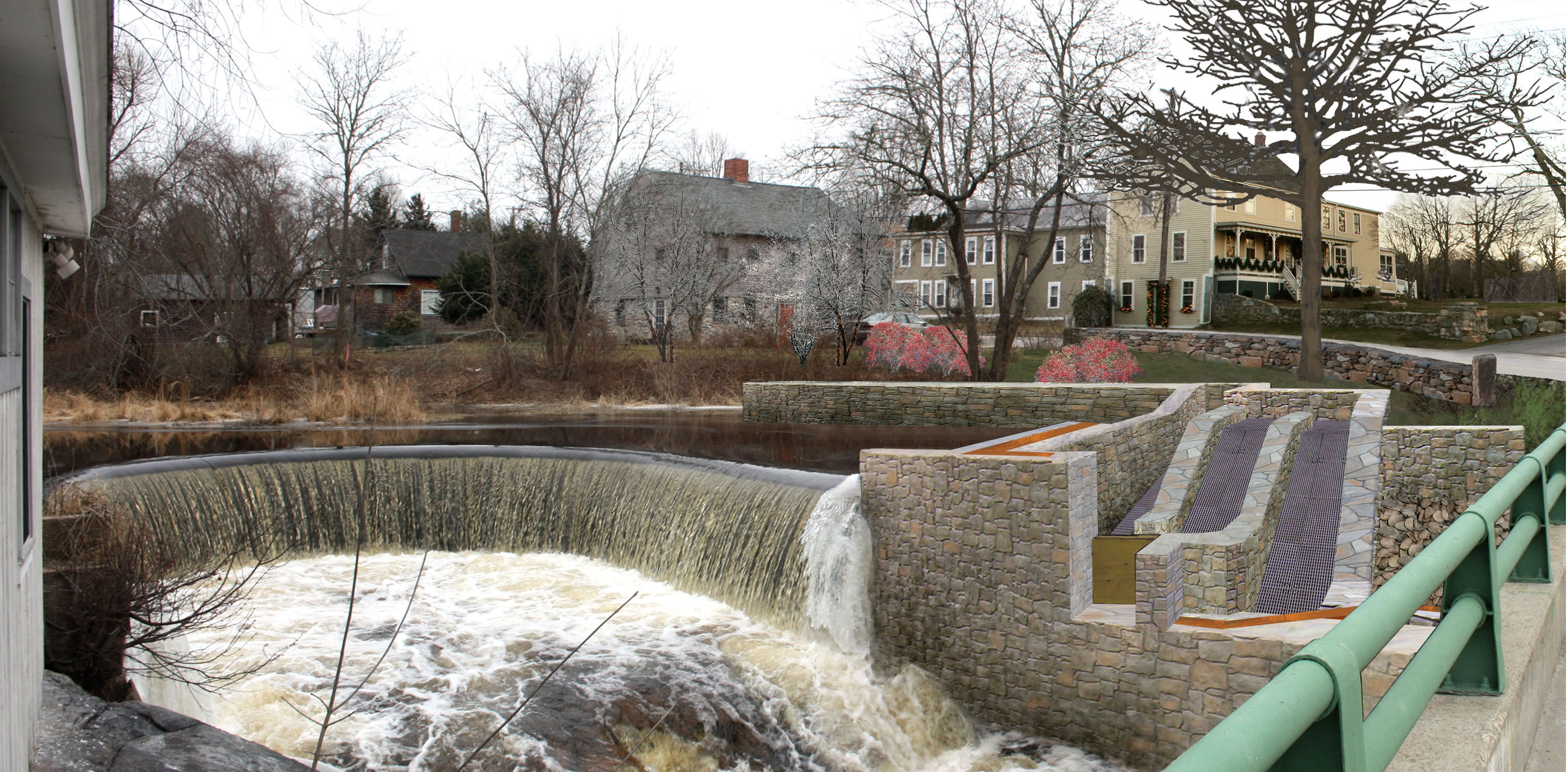 Image result for fish ladders pawcatuck